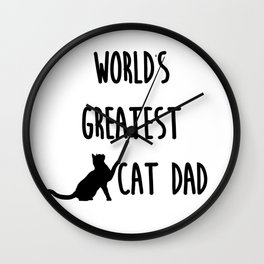 World's Greatest Cat Dad Wall Clock