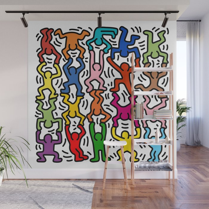 Homage to Keith Haring Acrobats II Wall Mural