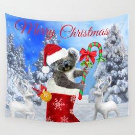 Baby Koala Christmas Cheer Wall Tapestry