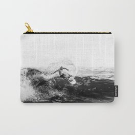 Black-and-White / Summer Waves Carry-All Pouch