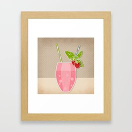 """Picture. Strawberry juice. From a set of paintings. The """"kitchen"""". Framed Art Print"""