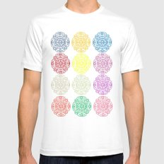Repetition White Mens Fitted Tee MEDIUM