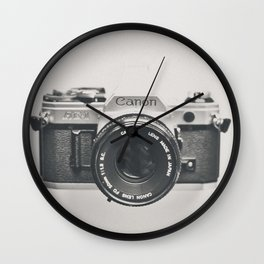 Vintage Camera Phone Wall Clock