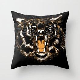 Roar Tiger Throw Pillow