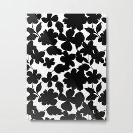 Black and white Blooms Metal Print