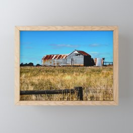 Old Dilapidated Farm Shed Framed Mini Art Print