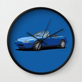 Mazda MX-5 Miata MK1 Mariner Blue Wall Clock