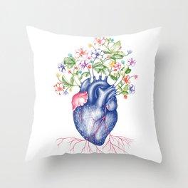 Strawberry Heart  Throw Pillow