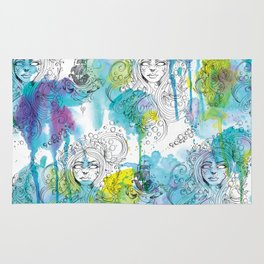 Mermaid Spirits Rug