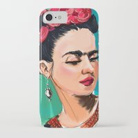 frida iPhone & iPod Cases featuring Frida by Jaleesa McLean