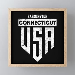 Farmington Connecticut Framed Mini Art Print
