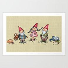 Gnomes Art Print