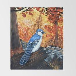 Blue Jay Life Throw Blanket
