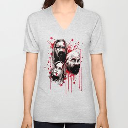 Cleansing of the Wicked Unisex V-Neck