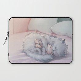 Kitty Sleeping with Bear Friend Laptop Sleeve