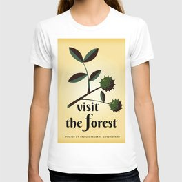 Visit The Forest Government poster T-shirt