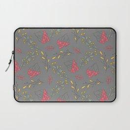 Fall magenta gold yellow mauve gray autumn floral Laptop Sleeve