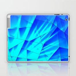 Bright sunshine on celestial and blue triangles of irregular shape. Laptop & iPad Skin