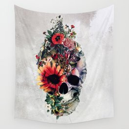 Two Face Skull Wall Tapestry