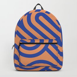 Colorful bright fun Art Deco Seamless Aesthetic Abstract Geometric Modern Minimalist Digital Pattern Backpack