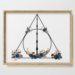 Deathly Hallows in Blue and Brown Serving Tray