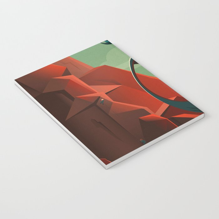 THE VOLCANO OF MARS - Olympus Mons | Space | X | Retro | Vintage | Futurism | Sci-Fi Notebook