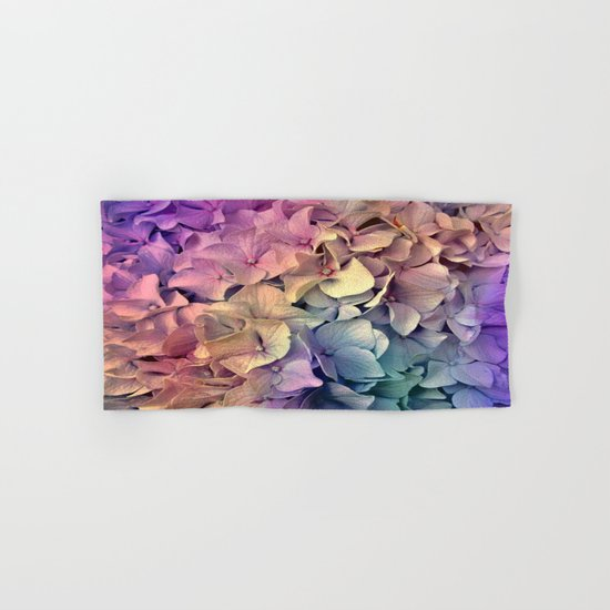 Soft Multi Color Hydrangea Hand & Bath Towel
