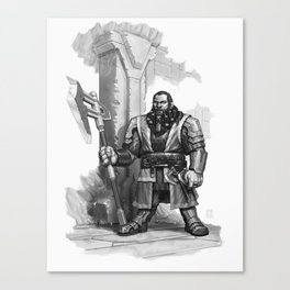 And My Axe Canvas Print
