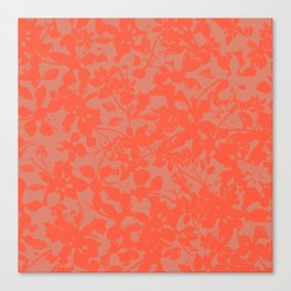 Coral Botanical Pattern - Broken but Flourishing Canvas Print