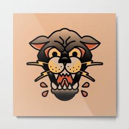 Panther Tattoo Metal Print