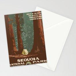 Vintage poster - Sequoia National ParkX Stationery Cards