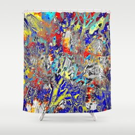 ice and fire friend Shower Curtain