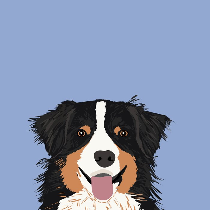 Australian Shepherd cute pastel aussie owner gifts must haves for dog person customized pet portrait Comforters