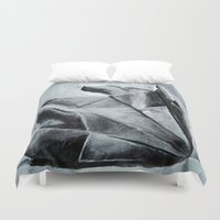 origami Duvet Covers featuring ORIGAMI by The Traveling Catburys