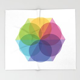 Fig. 012 Geometric Circles and Triangles Throw Blanket