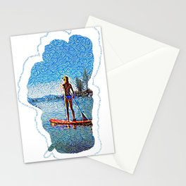 Sunset SUP Stationery Cards