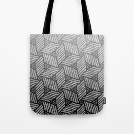 Japanese style wood carving pattern in gray Tote Bag