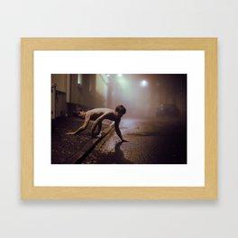 Animal in the mist Framed Art Print