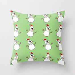 Xmas Snowman Throw Pillow
