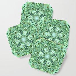 Mary Jane Mandala 2 (green) Coaster
