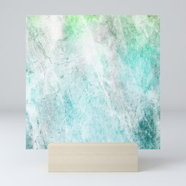 Mint Green Abstract Mini Art Print