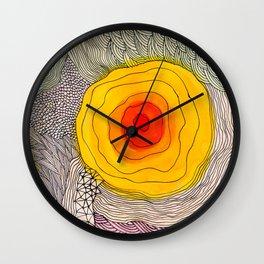 abstract sun flower Wall Clock