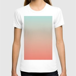 Ombre Living Coral with Turquoise T-shirt