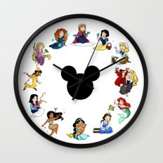 Time To Be A Princess (Anna) Wall Clock
