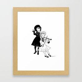 Violin players Framed Art Print