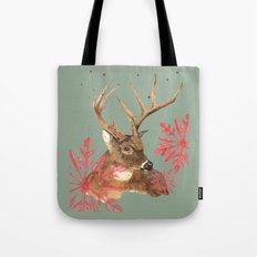 Forest Royalty, Stag, Deer, Christmas Stag, Woodland animals Tote Bag