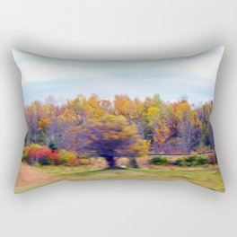 Beyond the Tracks Surreal Rectangular Pillow