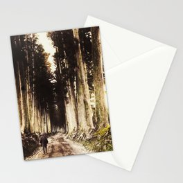 Alone in the woods of Nikko Stationery Cards