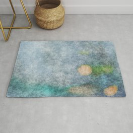 stained fantasy microorganisms Rug