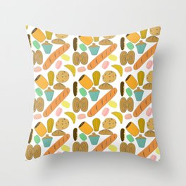 Patisseries de France French Pastries and Breads Throw Pillow